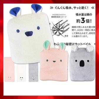 現貨✣carari zooie 大浴巾 洗臉巾 擦髮巾 CB Japan 3倍吸水速乾✣