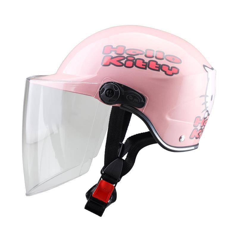 ✢﹍1-2-3歲寶寶防雨防曬兩用加厚嬰兒童頭盔安全帽成人電瓶車頭盔