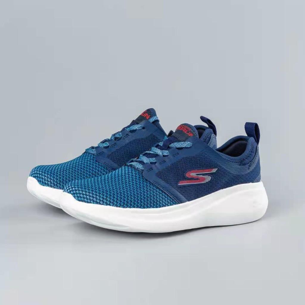 Skechers斯凱奇 思克威爾繫帶男鞋 輕質透氣健步慢跑運動鞋55102