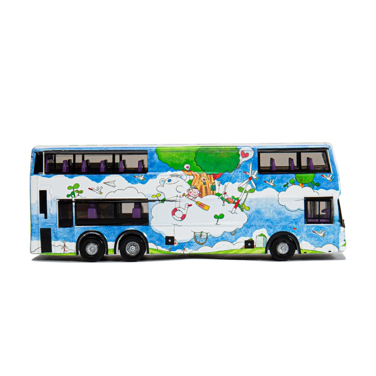 904 TINY 12 ArtBus E500 Bus DIECAST CAR NEW HONG KONG CITY 1//110