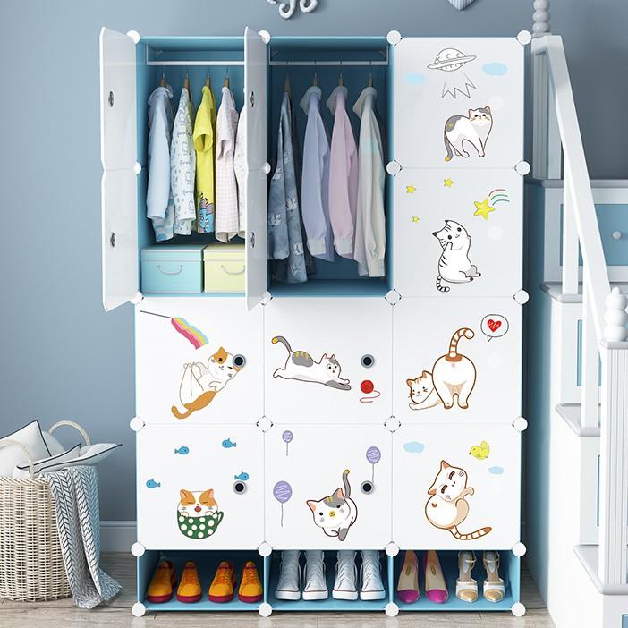 兒童簡易衣柜現代簡約塑料寶寶小衣櫥家用臥室儲物出租房收納柜子