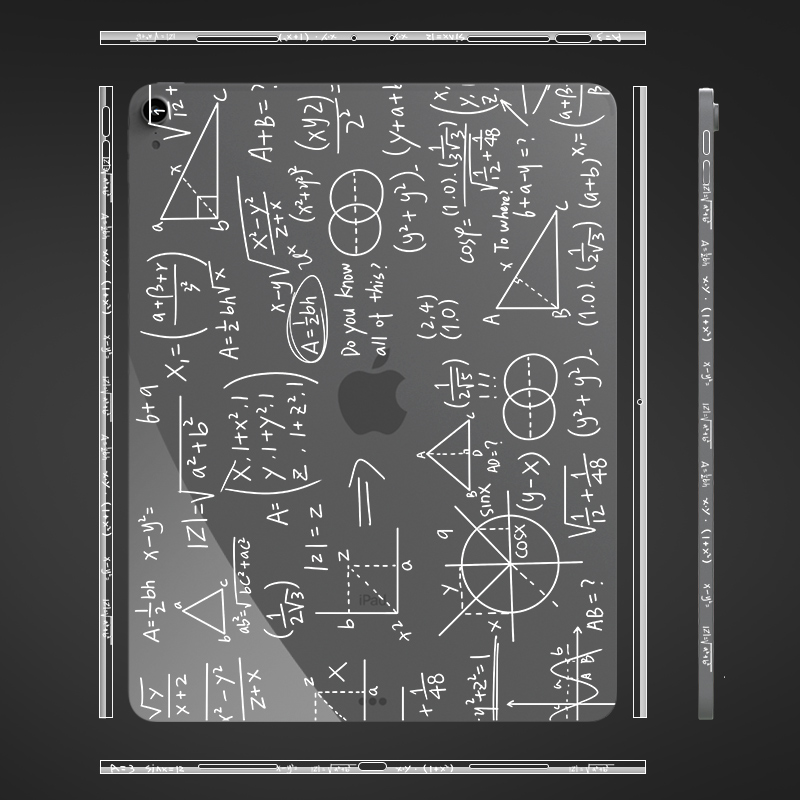 現貨秒發Ipad pro背膜M1背面保護貼紙air4全覆蓋3M材質防刮全包邊框保護ipad11邊框貼膜側邊保護創意