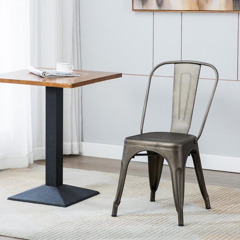希德尼工業風金屬高背餐椅-六色可選 | 美規設計傢俱