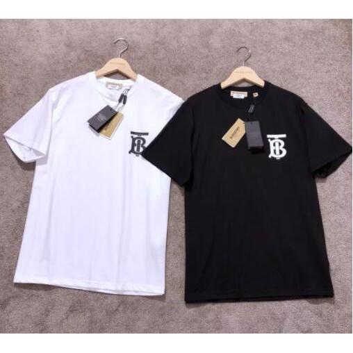 Burberry Tshirt Tb tee 基本爆款 短袖T恤 大學T 黑/白色 情侶 TB 衣服 寬鬆上衣 保證真貨