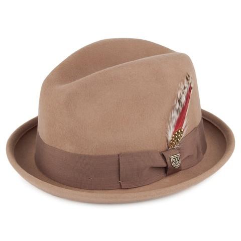 Brixton Gain Fedora 紳士帽 (卡其)《Jimi Skate Shop》