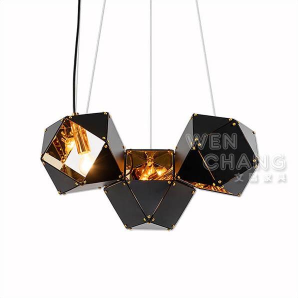 北歐 幾何簡約 DNA吊燈三頭 氣氛燈 復刻版 LC-109-3 文昌家具