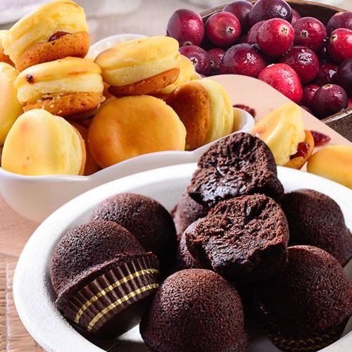 【大溪杏芳食品】巧克力布朗尼一盒12入+蔓越莓乳酪球一盒32入(含運)