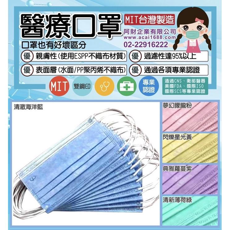 晉沛-醫療用親膚性台灣製雙鋼印口罩-可挑色