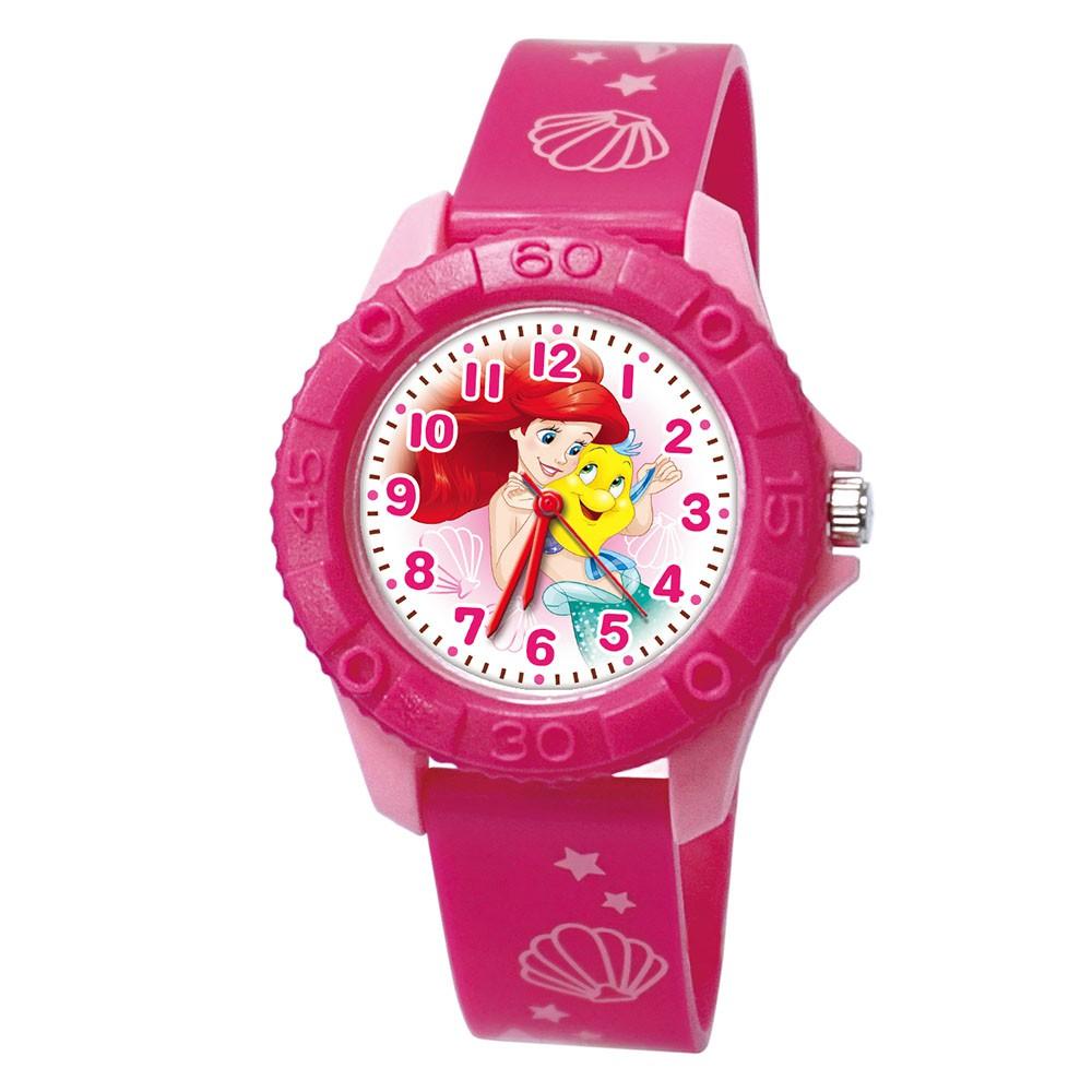 【Disney迪士尼】俏麗美人魚 雙色殼兒童手錶