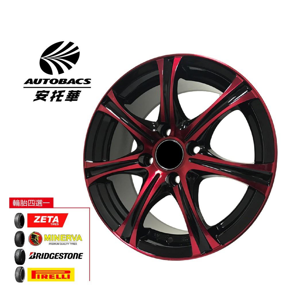 S403 鋁圈 14吋/4孔100/6J/ET38 - 輪胎185/65/14 四輪四圈組合/輪胎三選一