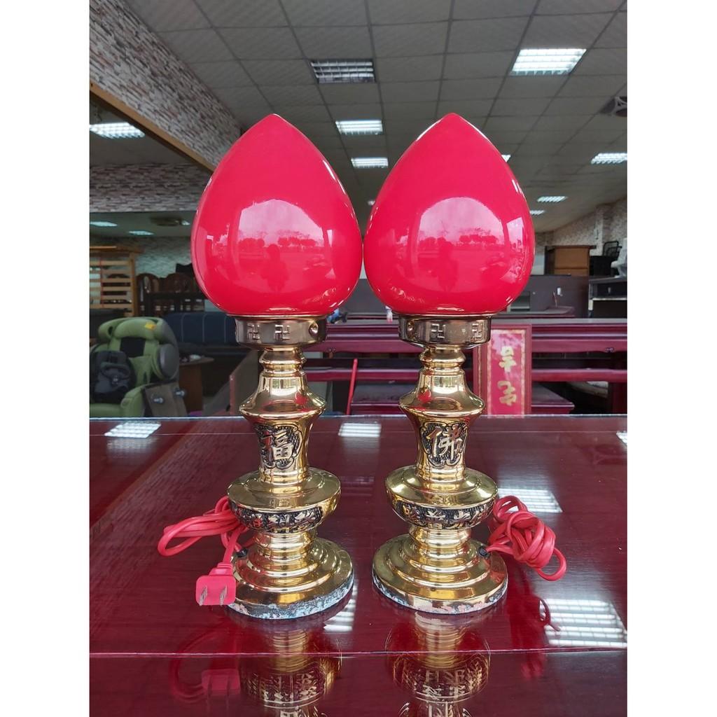 香榭二手家具*中古高級銅製神明燈-1尺-型號:7036 -登科燈-佛桌燈-紅燈- 公媽燈-光明燈-神佛燈-祖先燈-供燈