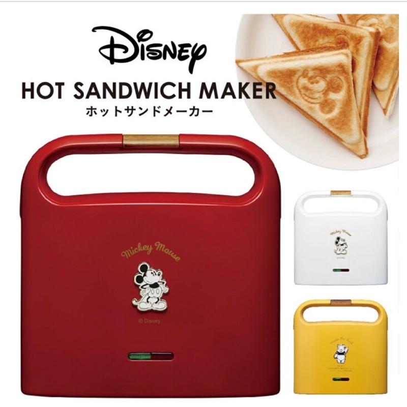日本代購 迪士尼  TSH-701D Doshisha x Disney 米奇 小熊維尼 熱壓 三明治機 吐司機