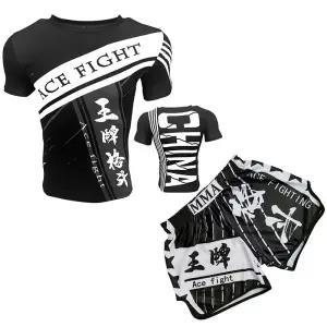 新款 ARFIGHTKING泰拳運動短褲搏擊UFC男運動播求健身速幹格鬥MMA套裝
