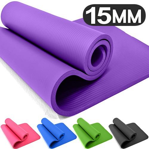 15MM加厚NBR健身墊(送束帶)C160-5230瑜珈墊止滑墊防滑墊運動墊.遊戲墊野餐墊防潮墊子.地墊床墊睡墊避震墊