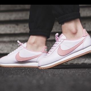 Nike Cortez pale pink sail gym leather lux珍珠粉24.5 全新現貨也來黑五特價 台北市