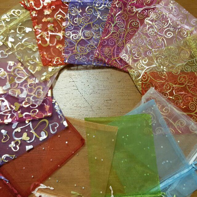 紗網袋12×17燙金素色任選 婚禮小物 雪紗袋