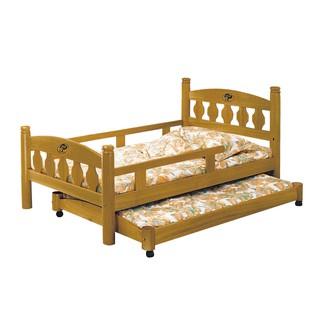 便宜家具特賣~~降價優惠 ~雙層床系列~JD-597-3 3.5尺烏心石圓柱母床+子床 (大台北地區含運) 新北市