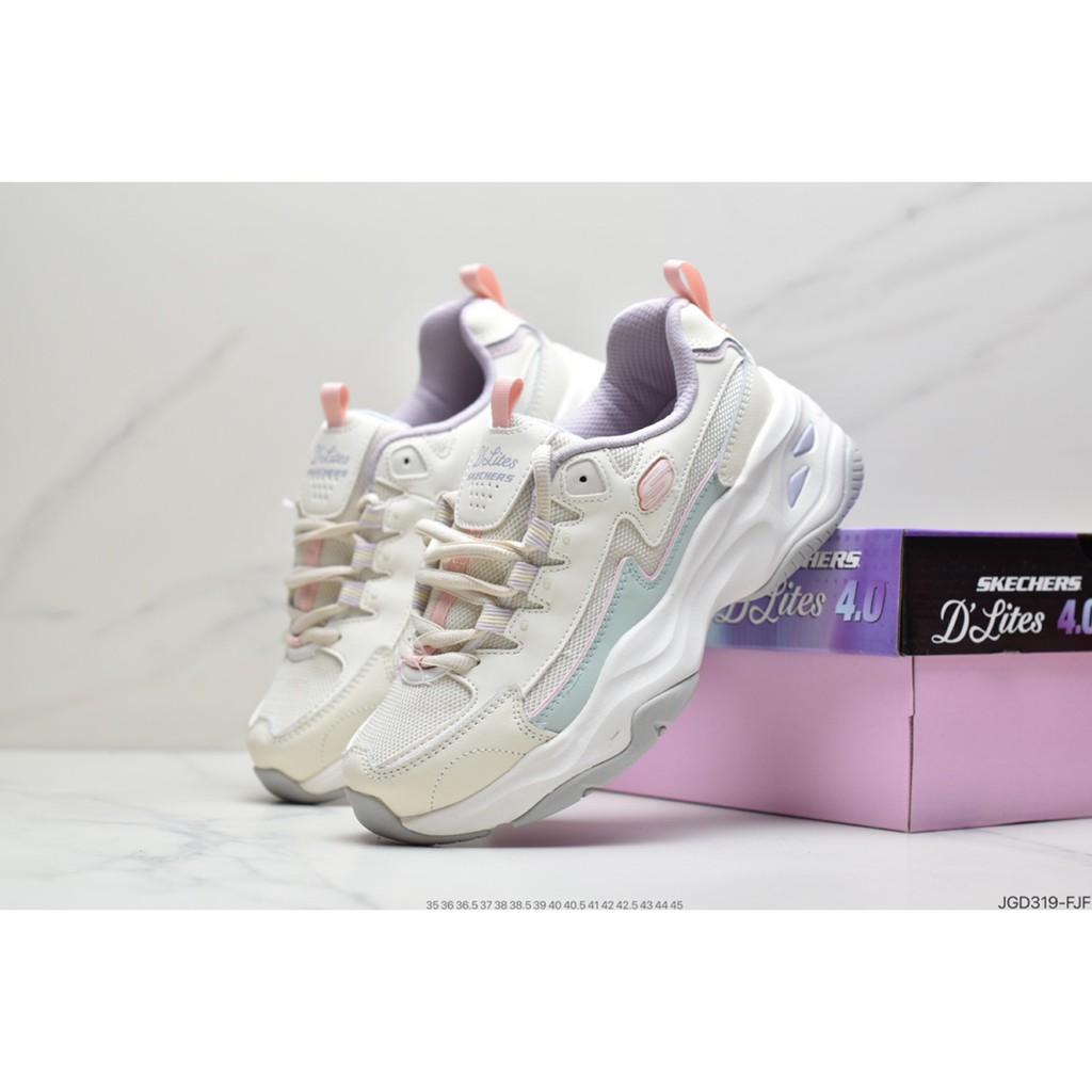 Skechers斯凱奇女鞋果凍冰淇淋主題舒適熊貓老爹風厚底休閒運動復古慢跑鞋