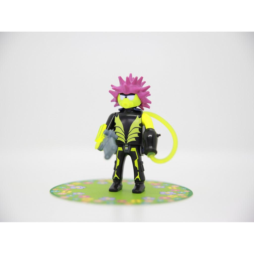 Playmobil 摩比 太空人 外星人 雷射槍 粉紅刺刺頭 抽抽樂