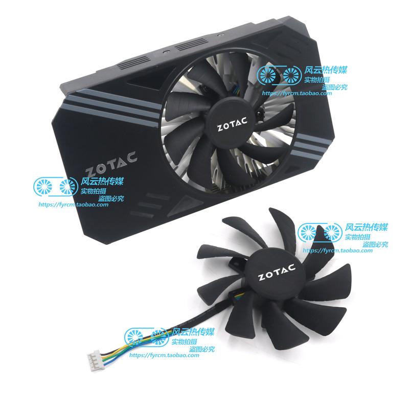 新的 Zotac Zotac 適用於 Gtx1060 Mini Itx 圖形卡冷卻風扇型號 T129215Sh 4pin