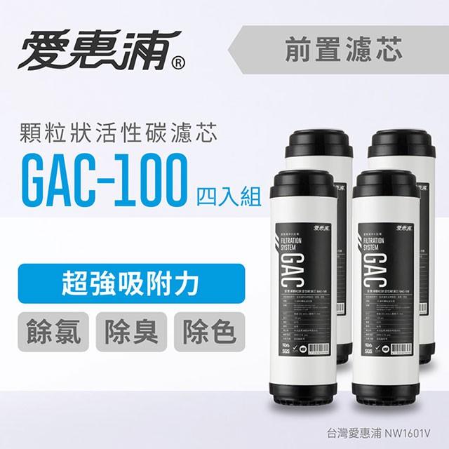原廠公司貨【愛惠浦】10英吋前置GAC顆粒狀活性碳濾芯(4支) GAC-100