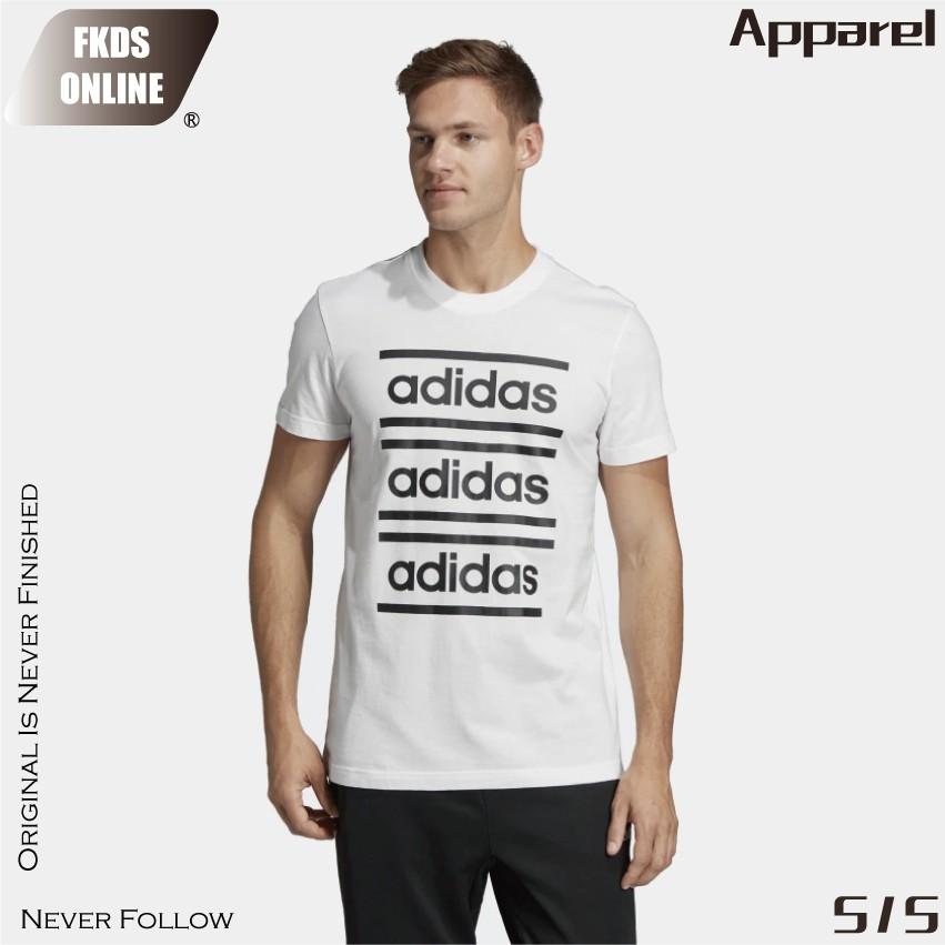 Adidas 愛迪達大Logo串標字母書寫運動休閒短T EI5572 EI5619 廠商直送 現貨