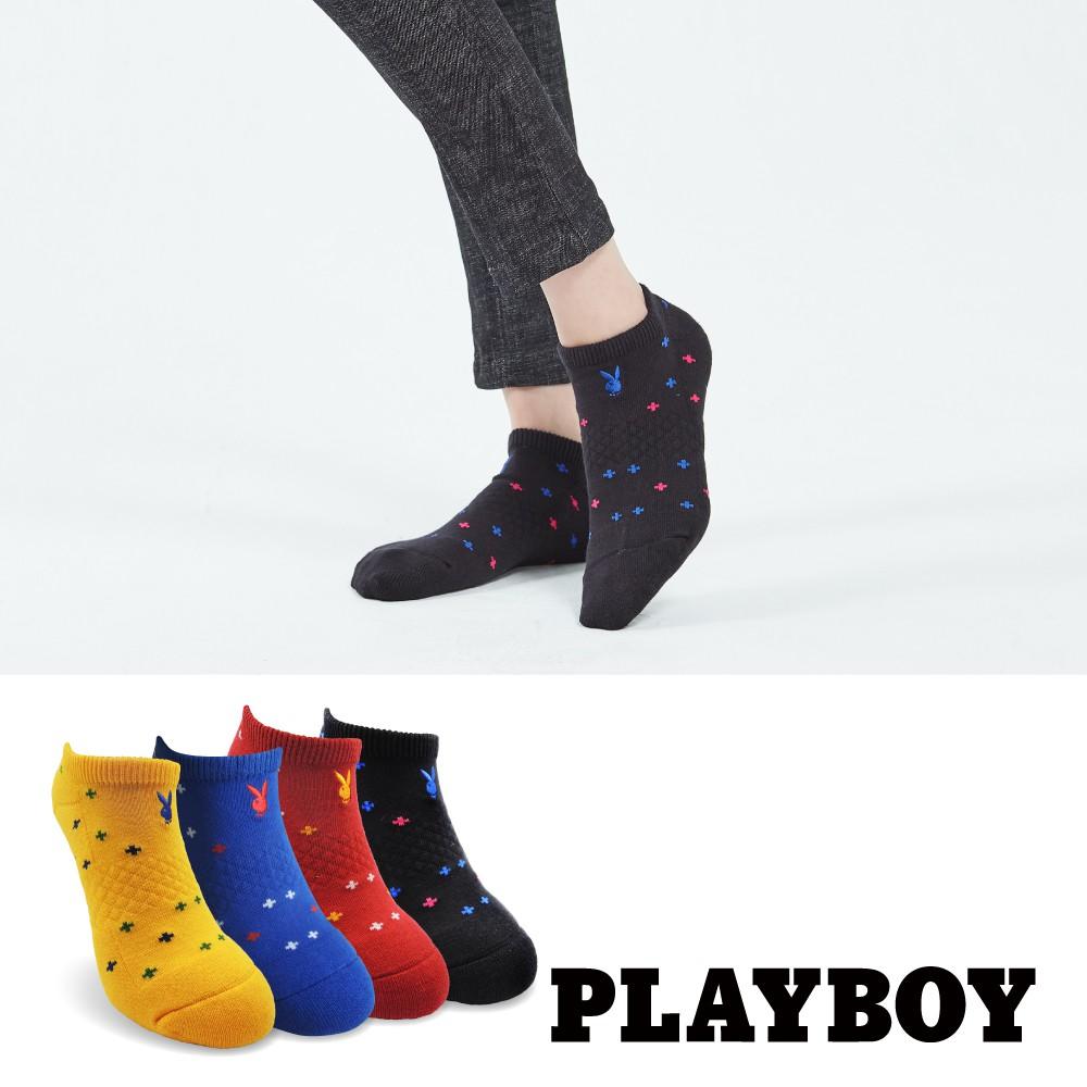 【PLAYBOY】十字點點運動襪│襪子│女襪│短襪│舒適運動│高含棉異味OUT