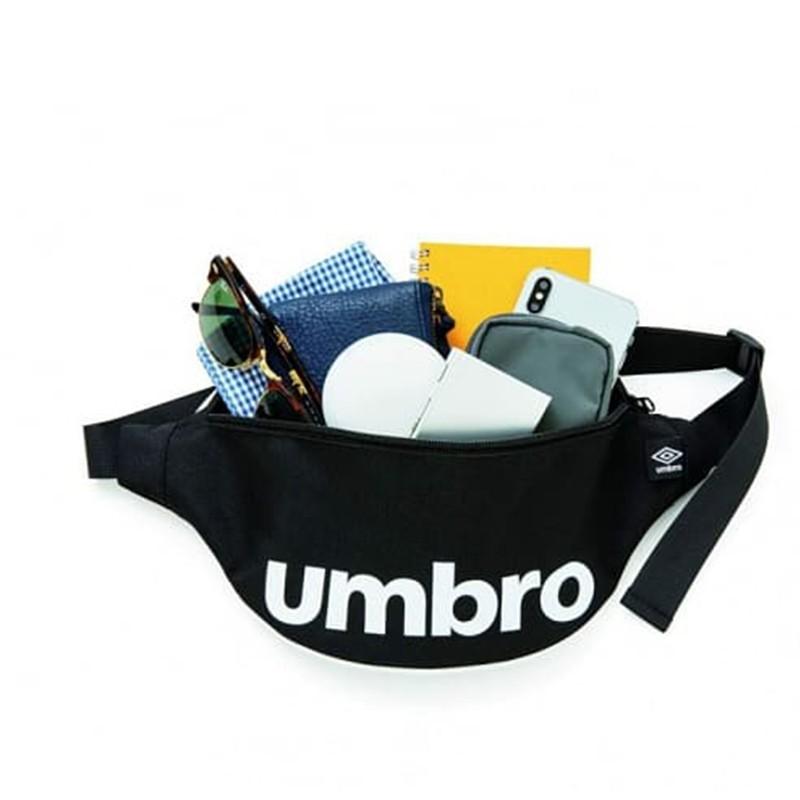 💟娃娃日雜小舖💟日本雜誌附錄 umbro 黑色肩背腰包 運動腰包 胸包 運動包 斜背包 側背包 單車包