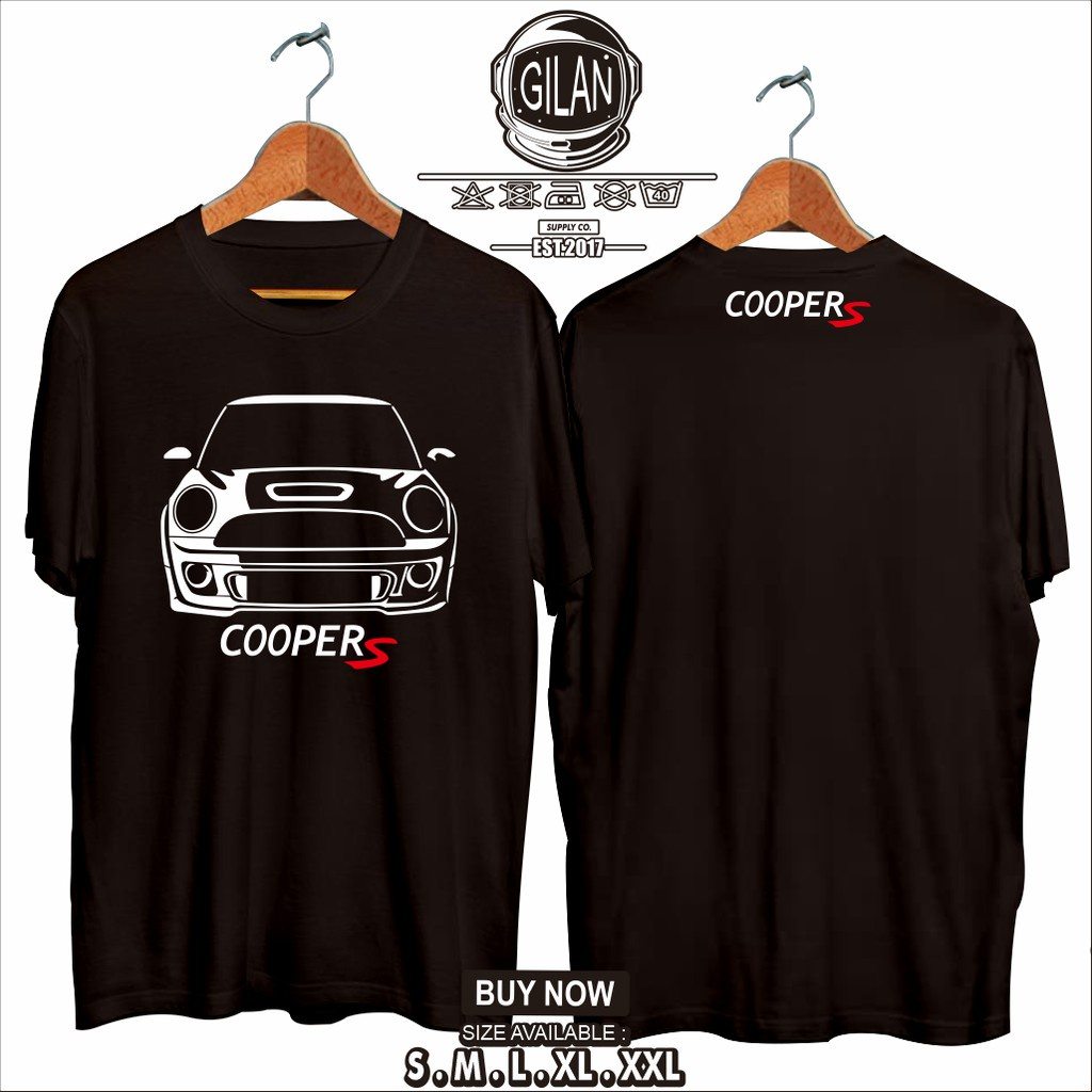 T卹客制化 Mini Cooper S 男式賽車精梳棉質 T 恤