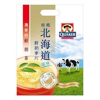 桂格北海道鮮奶麥片-鮮奶茶12入 [仁仁保健藥妝]
