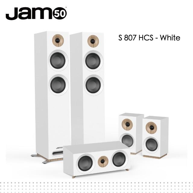 Jamo S807HCS 五聲道家庭劇院組-white