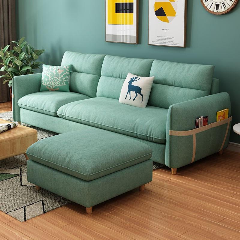 【新店優惠】北歐沙發客廳小戶型三人位出租房現代簡約臥室房間1.5/2.4米直排
