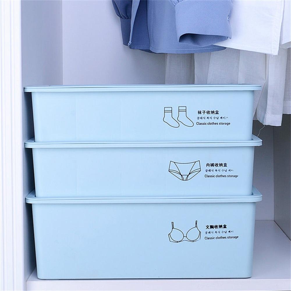 折疊收納箱、整理箱、下掀式、側開、大號、帶蓋、[新款加厚加大]內衣襪子收納盒塑料褲文胸收納箱衣柜整理家用宿、手提、帶滑輪