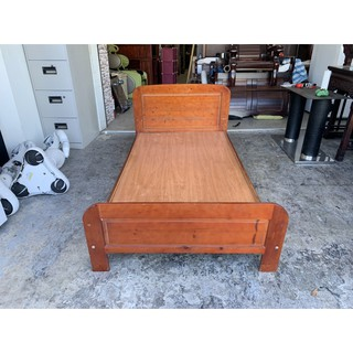 香榭二手家具*胡桃實木 單人加大3.5x6.2尺床架-單人床-床板-床箱-床底-床組-床框-床台-床檯-套房床架-中古 台中市