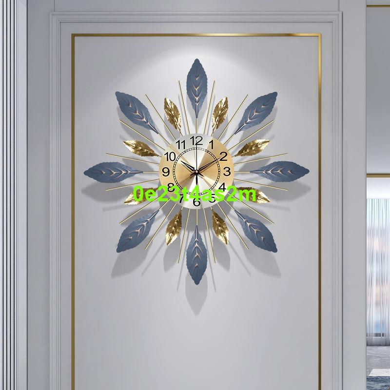現代北歐鐘表掛鐘客廳靜音家用鐘飾餐廳裝飾時鐘掛墻時尚大氣掛表