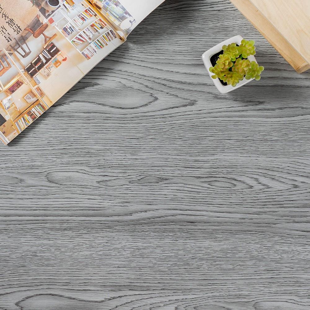 DIY煙灰橡木地板貼 宜家寶 10/20/40片 自黏地板 仿木紋地貼 耐磨防水 免上膠 優惠價 地板【MM-Q005】