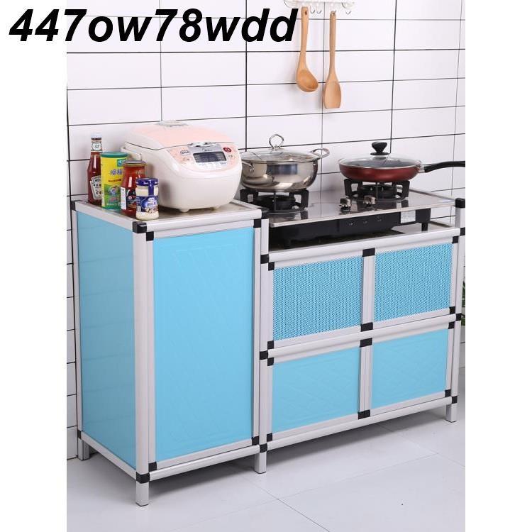 特價O廚房櫃子灶臺櫃櫥櫃一體不銹鋼煤氣灶臺架出租屋碗櫃簡易家用租房