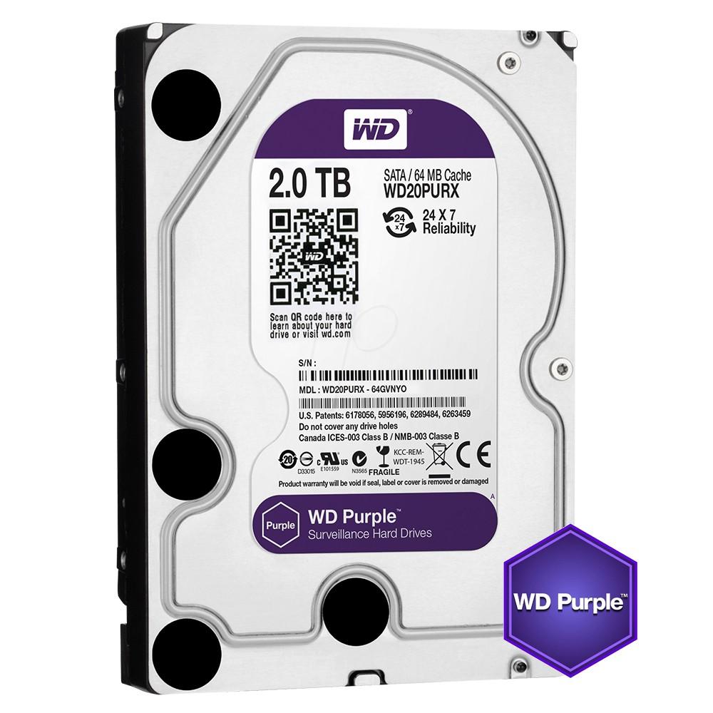 威騰 WD 2TB 2T 紫標 監控硬碟 3.5吋 影音硬碟 三年保 WD20PURZ