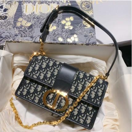 專櫃正品 Dior 2020新款 montaigne 30蒙田包老花 翻蓋 鏈條 單肩 斜挎 女包 肩背包 現貨+預購