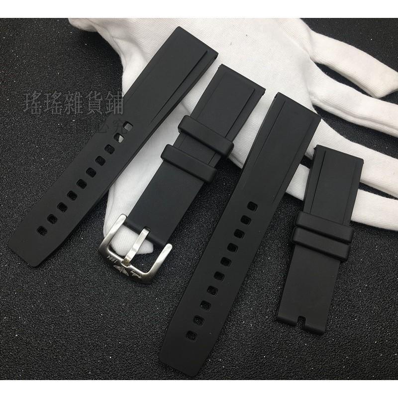 ♥適配Breitling百年靈基本款黑鳥復仇者海洋文化硅膠手表帶22mm色-瑤瑤雜貨鋪