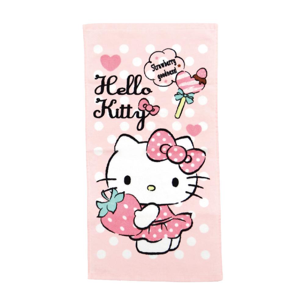 凱蒂貓最愛草莓童巾【康是美】