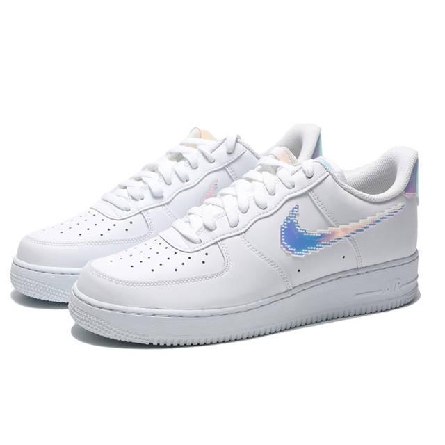 NIKE AIR FORCE 1 Iridescent Pixel 白 炫彩 CV1699100 Sneakers542