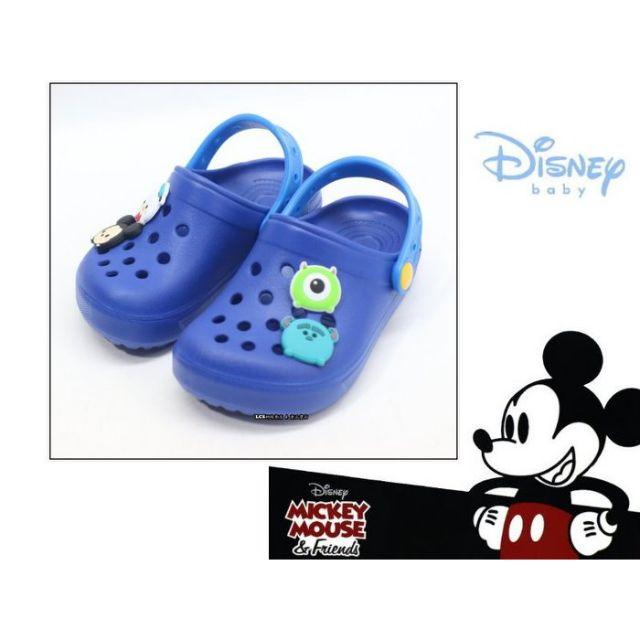 迪士尼DISNEY 卡通圖案兒童休閒布希涼鞋/洞洞鞋 (418314L 藍)