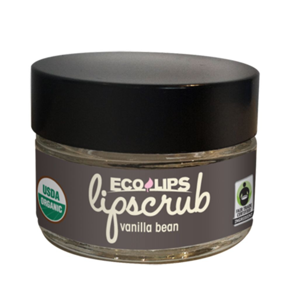美國ECO LIPS依蔻麗唇 天然糖砂去角質護唇霜-vanilla bean(香草豆莢_草本修潤)