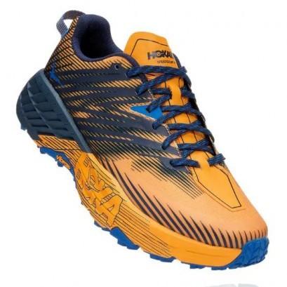 Hoka | Speedgoat 4 for Men (Saffron/Elack Iris) 越野跑鞋 運動鞋