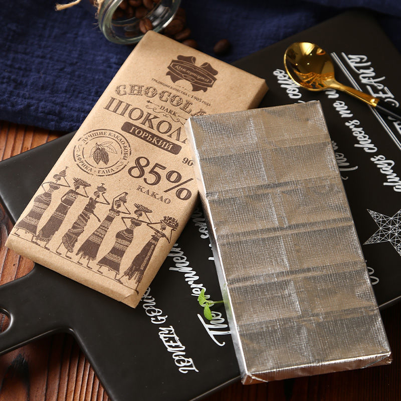 100%純可可脂黑巧克力  俄羅斯黑巧克力 斯巴達克 原裝進口 無糖低脂 健身零食品 巧克力