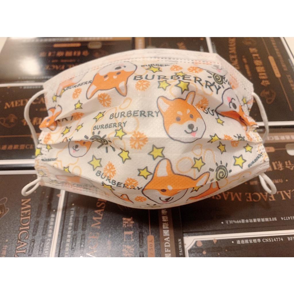 ⚡現貨秒出❤️24H 狗狗柴犬 令和平面醫療口罩 雙鋼印 50入組 成人 兒童 口罩 台灣製造國家標準CNS14774