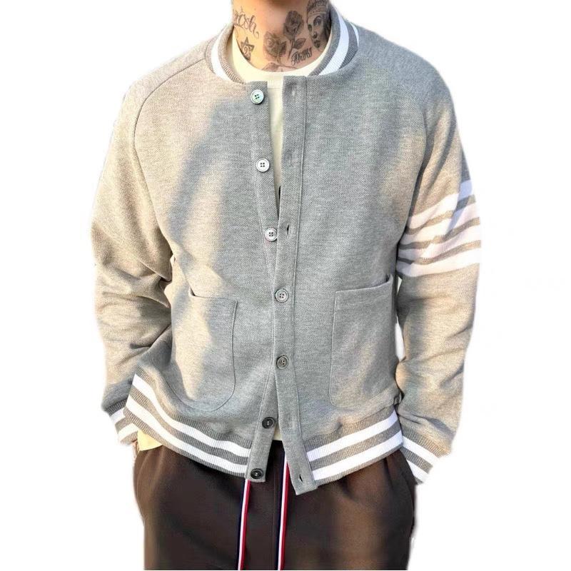 THOM BROWNE 湯姆布朗 TB 新款 經典 男女 棒球外套