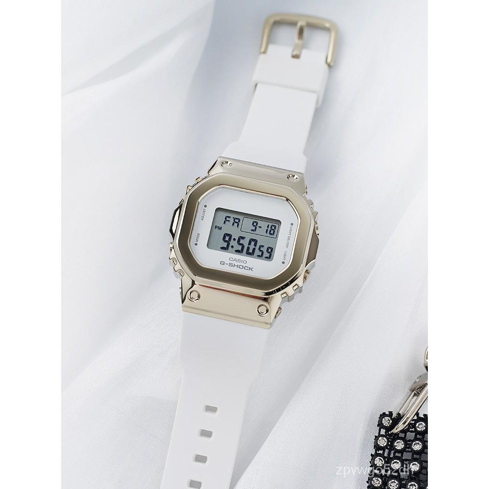 卡西歐手錶女款gshock官網街頭潮酷女錶金屬品牌電子錶GM-S5600PG ZeUx