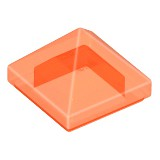 樂高 Lego 透明 螢光橘色 金字塔 三角 Orange Slope 45 1x1x2/3 Pyramid 22388